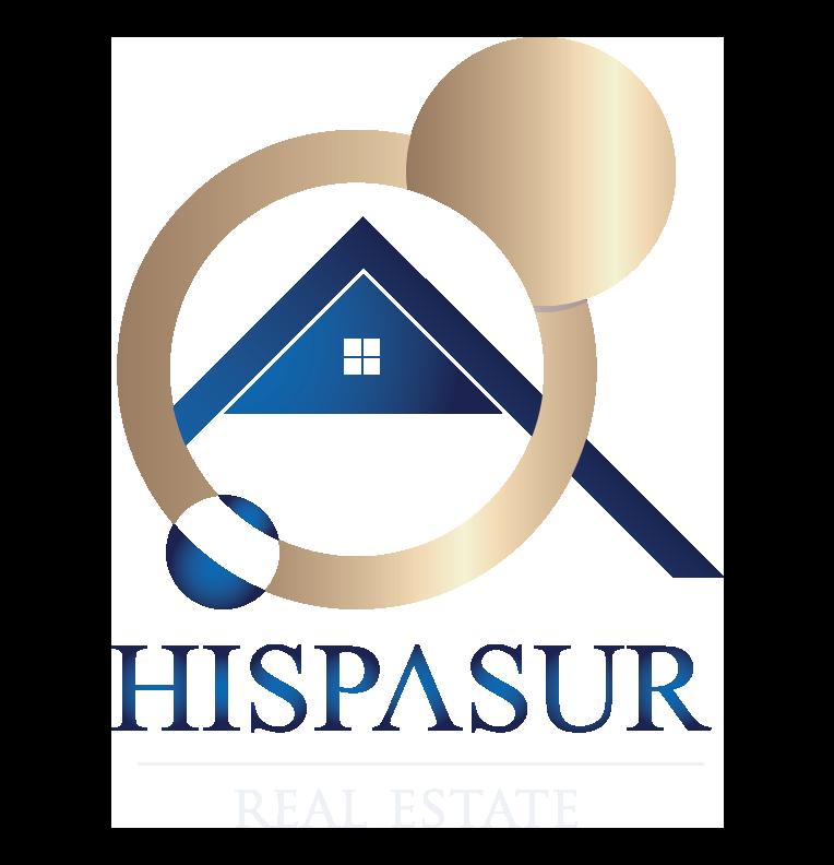 logo png letras blancas Hispasur Real Estate